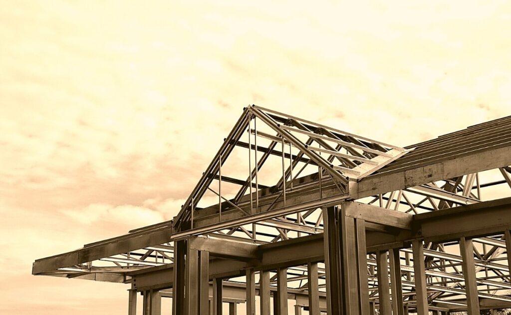 casa hecha de steel frame