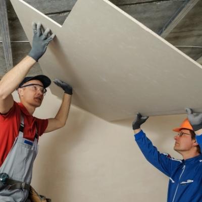 instalación de panel drywall