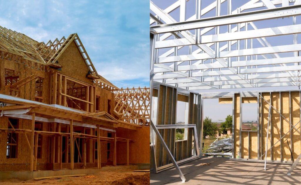 wood frame vs steel frame