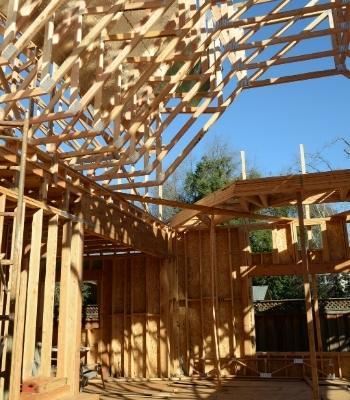 Casa con wood frame