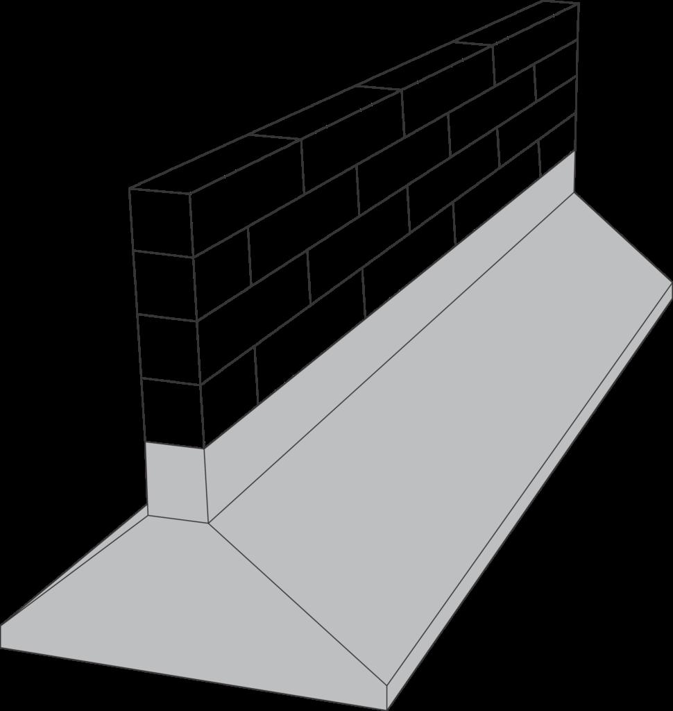 ilustracion de zapata corrida